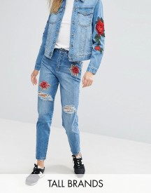 Kubban Tall Applique Patch Boyfriend Jeans afbeelding