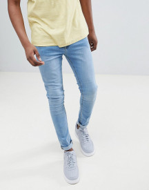 Ldn Dnm Spray On Jeans In Mid Wash afbeelding