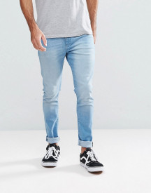 Ldn Dnm Super Skinny Jeans In Light Wash Indigo afbeelding