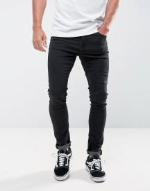 Ldn Dnm Super Skinny Jeans In Washed Black afbeelding