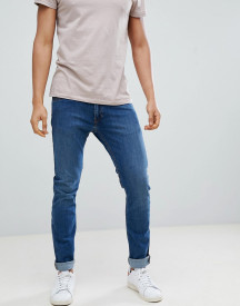 Lee Jeans Luke Skinny Jeans In Mid Used Blue afbeelding