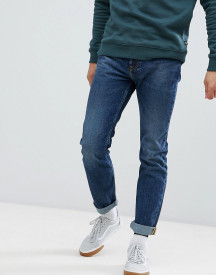 Lee Rider Slim Jeans In Blue Storm In Mid Wash afbeelding