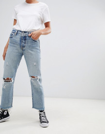 Levi's Wedgie Straight Cut Ripped Knee Jeans afbeelding