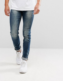 Lindbergh Tapered 5 Pocket Stretch Jean In Blue afbeelding