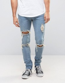 Liquor N Poker Skinny Jeans Ripped Ankle Zip afbeelding