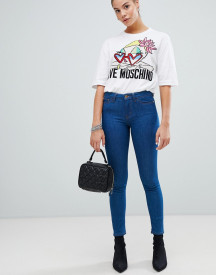 Love Moschino Mid Rise Blue Skinny Jeans afbeelding