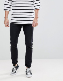 Love Moschino Skinny Fit Jeans In Black With Badge Logo afbeelding