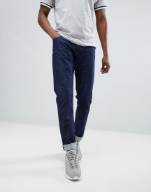 Love Moschino Skinny Jeans In Midwash Blue With Gold Badge afbeelding