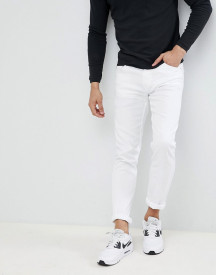Love Moschino Skinny Jeans In White With Milano Logo afbeelding