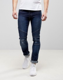 Loyalty And Faith Hayden Skinny Biker Jeans In Dark Wash afbeelding