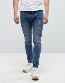 Loyalty And Faith Stretch Cuffed Ethan Jogger In Indigo Wash afbeelding