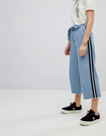 Maison Scotch Cropped Wide Leg Denim Trousers afbeelding