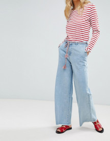 Maison Scotch Raw Hem Wide Leg Jeans With Rope Belt afbeelding