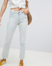 Mih Jeans Daily High Rise Straight Leg Jeans With Raw Hem afbeelding