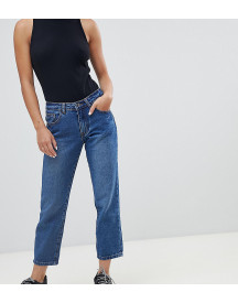 Missguided Petite Wrath Turn Up Straight Leg Jeans afbeelding