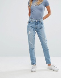 Monki Kimomo Light Wash Mom Jeans afbeelding