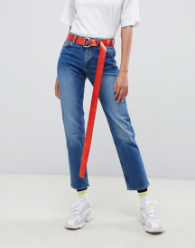 Monki Monokomi Straight Leg Jeans In Blue afbeelding