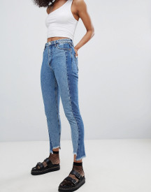 Monki Panelled Mom Jeans afbeelding
