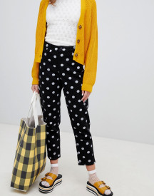 Monki Polka Dot Straight Mom Jeans afbeelding