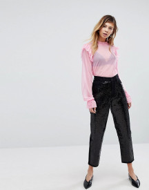 Monki Taiki Sequin Slim Mom Jeans afbeelding
