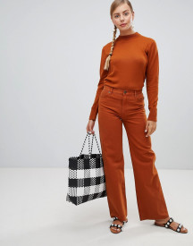Monki Wide Leg Jeans In Rust afbeelding