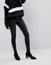 New Look Black Gemstone Embellished Skinny Jean afbeelding