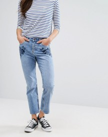 New Look Embroidered Mom Jeans afbeelding