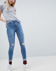 New Look Jenna High Rise Skinny Turn Up Jean afbeelding