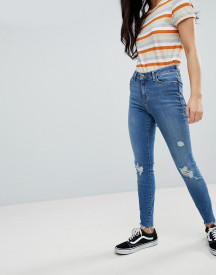 New Look Ripped Skinny Frayed Lift And Shape Jean afbeelding
