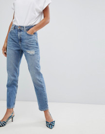 New Look Rome Ripped Mom Jean afbeelding