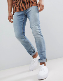 New Look Slim Jeans In Light Blue Wash afbeelding