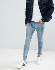 New Look Super Skinny Jeans In Blue Wash afbeelding