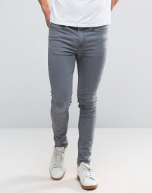 New Look Super Skinny Jeans In Grey Wash afbeelding