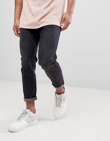New Look Tapered Jeans In Black Wash afbeelding