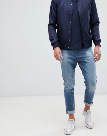New Look Tapered Jeans In Mid Blue Wash afbeelding