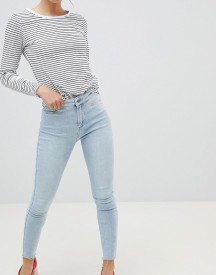 New Look Vanessa Super Skinny High Rise Frayed Hem Jean afbeelding