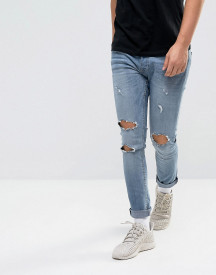 Night Addict Super Skinny Ripped Jeans afbeelding