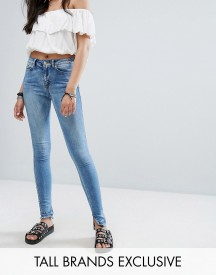Noisy May Tall Lucy Raw Hem Jeans afbeelding