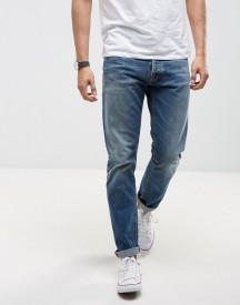 Nudie Jeans Co Fearless Freddie Jean Straight Fit Shaded Rain Light Wash afbeelding