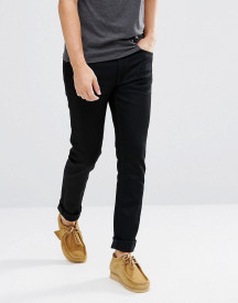 Nudie Jeans Co Fearless Freddie Taper Fit Jeans In Black afbeelding