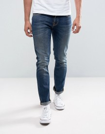 Nudie Jeans Co Grim Tim Jean Slim Fit Revelation Blue Mid Wash afbeelding