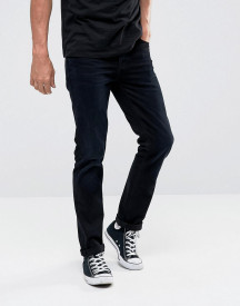 Nudie Jeans Co Grim Tim Slim Fit Jean Black Sparkles Wash afbeelding