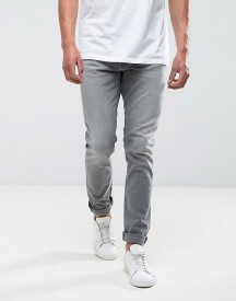 Nudie Jeans Co Lean Dean Jean Taper Fit Grey Ace Wash afbeelding