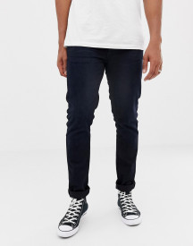 Nudie Jeans Co Lean Dean Tapered Jeans Black N Blue afbeelding