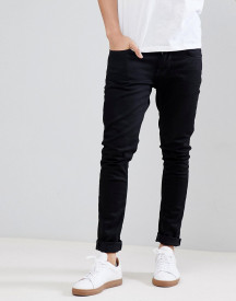 Nudie Jeans Co Tight Terry Jeans In Deep Black afbeelding
