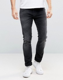 Nudie Long John Skinny Jeans Black Coyote afbeelding
