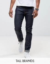 Nudie Jeans Tall Ecru Embro Thin Finn Slim Fit Jeans In Organic Dry afbeelding