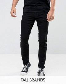 Nudie Jeans Tall Tight Long John Skinny Jeans Black Wash afbeelding