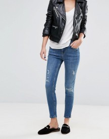 Oasis Distressed Cropped Skinny Jeans afbeelding