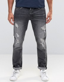 Only & Sons Jeans In Regular Fit With Rip Repair Detail afbeelding